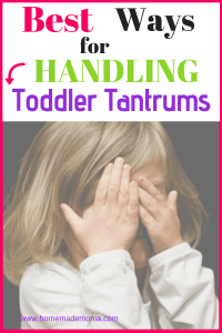 Deal toddler tantrums