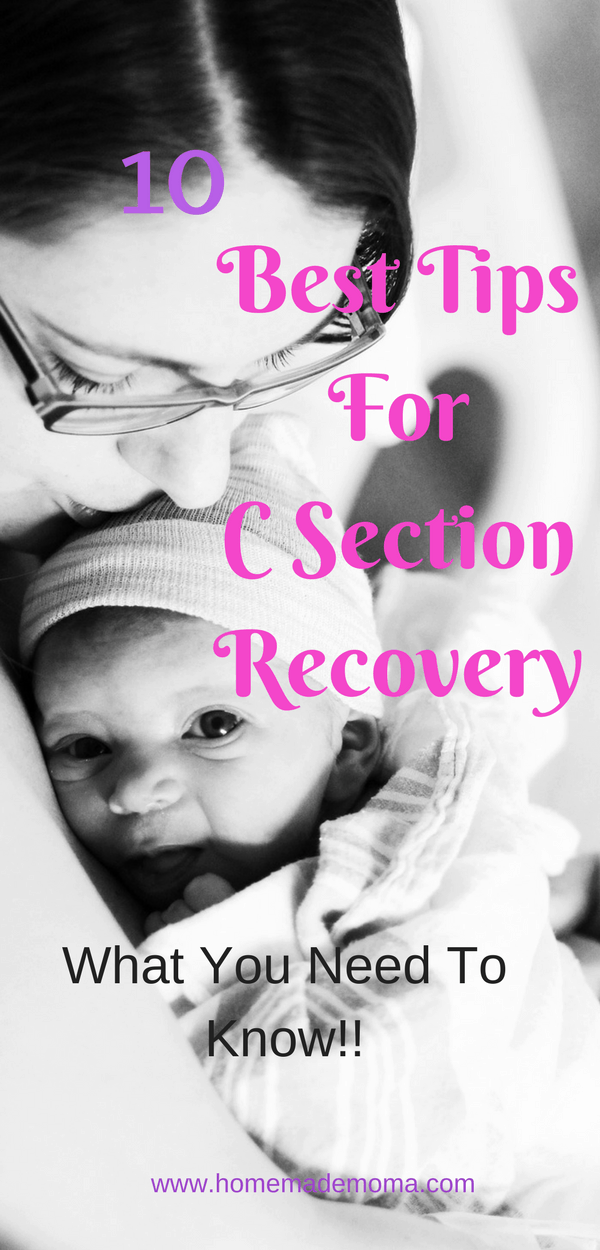 recovery after c section