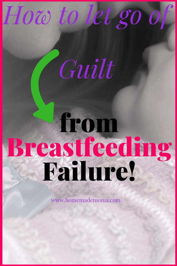 Unable to breastfeed guilt