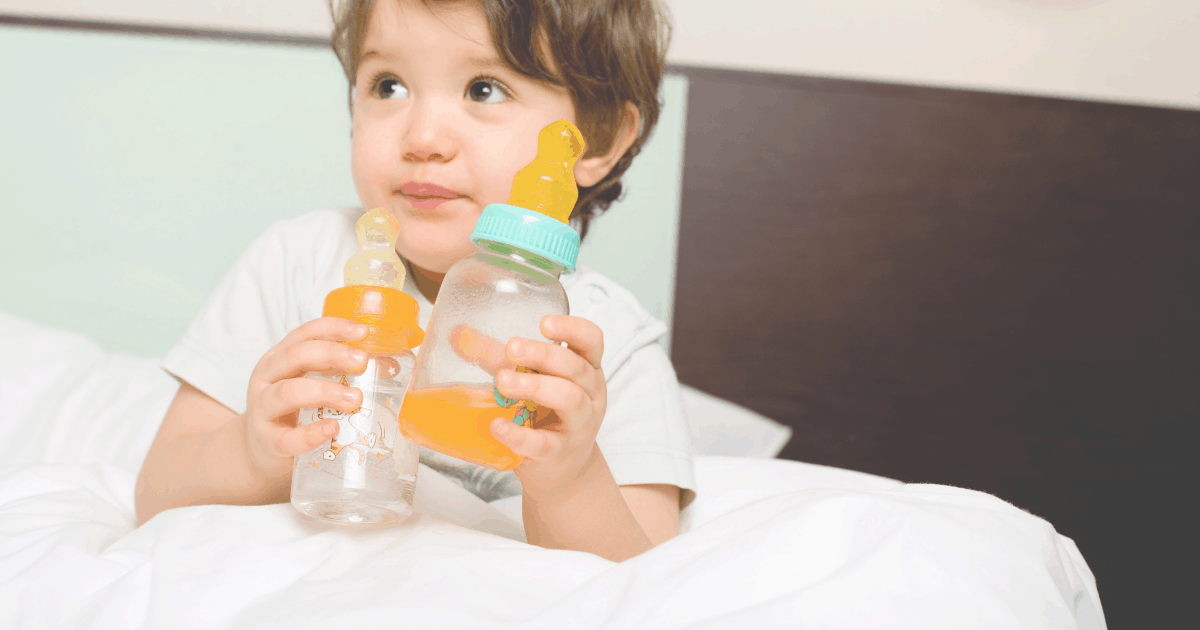 How to wean toddler off the bottle