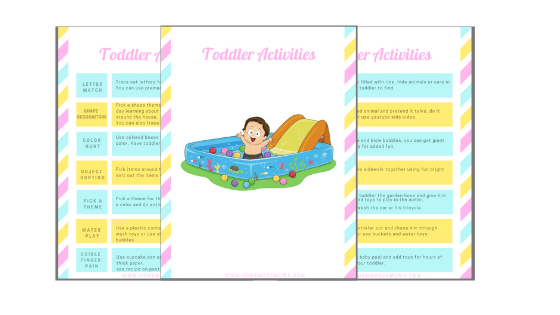 Toddler activities printable