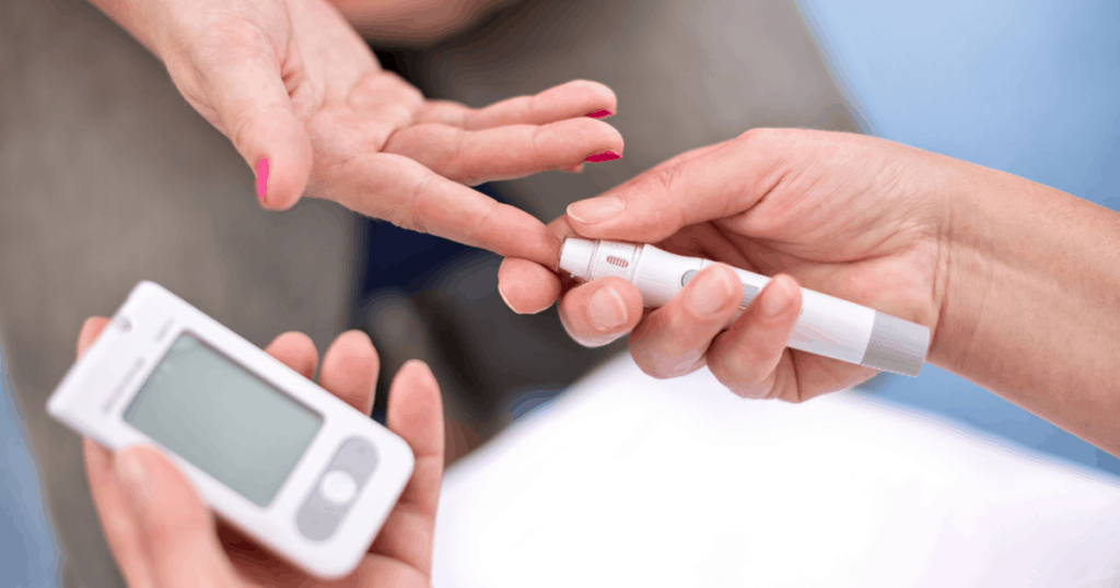 testing blood sugar