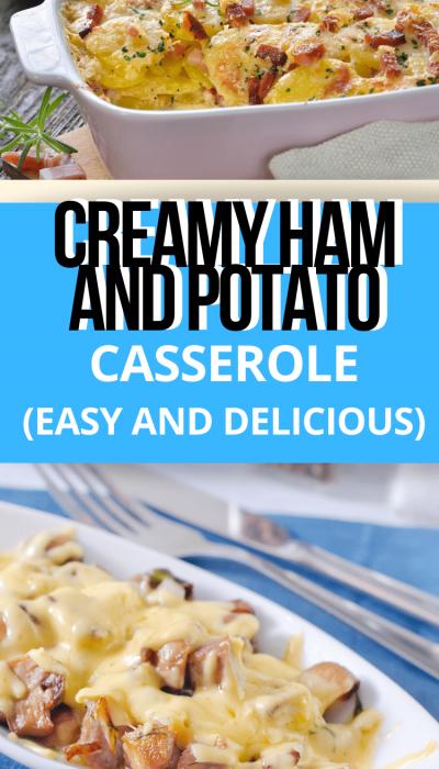 Creamy ham casserole